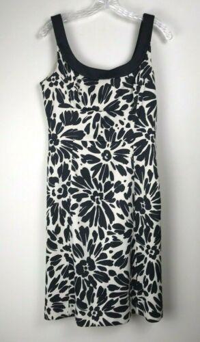 Midi Black and White Floral 100/% Silk Dress Evan Picone Sarong-style wrap front Size 8