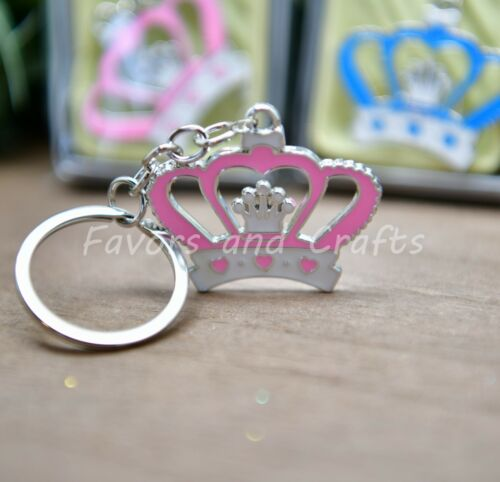 12 Crown Keychains Baby Shower Princess Party Favors Quinceanera Recuerdos