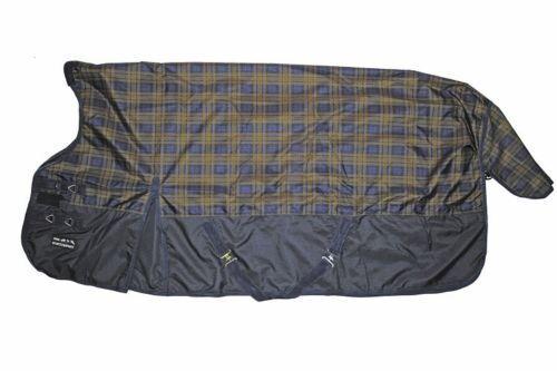 HKM Highneckdecke Weidedecke Blau CHECK 600D mit Fleecefutter 115-165 115-165 115-165 36923b