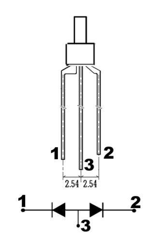 S448-10 Stück DUO LEDs 2mm Bi-Color weiß rot diffus Lichtwechsel Loks DIGITAL
