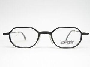 Occhiali-Montatura-Silhouette-Donna-Uomo-Plastica-Nero-Angolare-Nuova-Trend