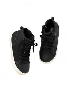 GAP Baby / Toddler Boy Size 5 US Black Perforated Hi-Top ...