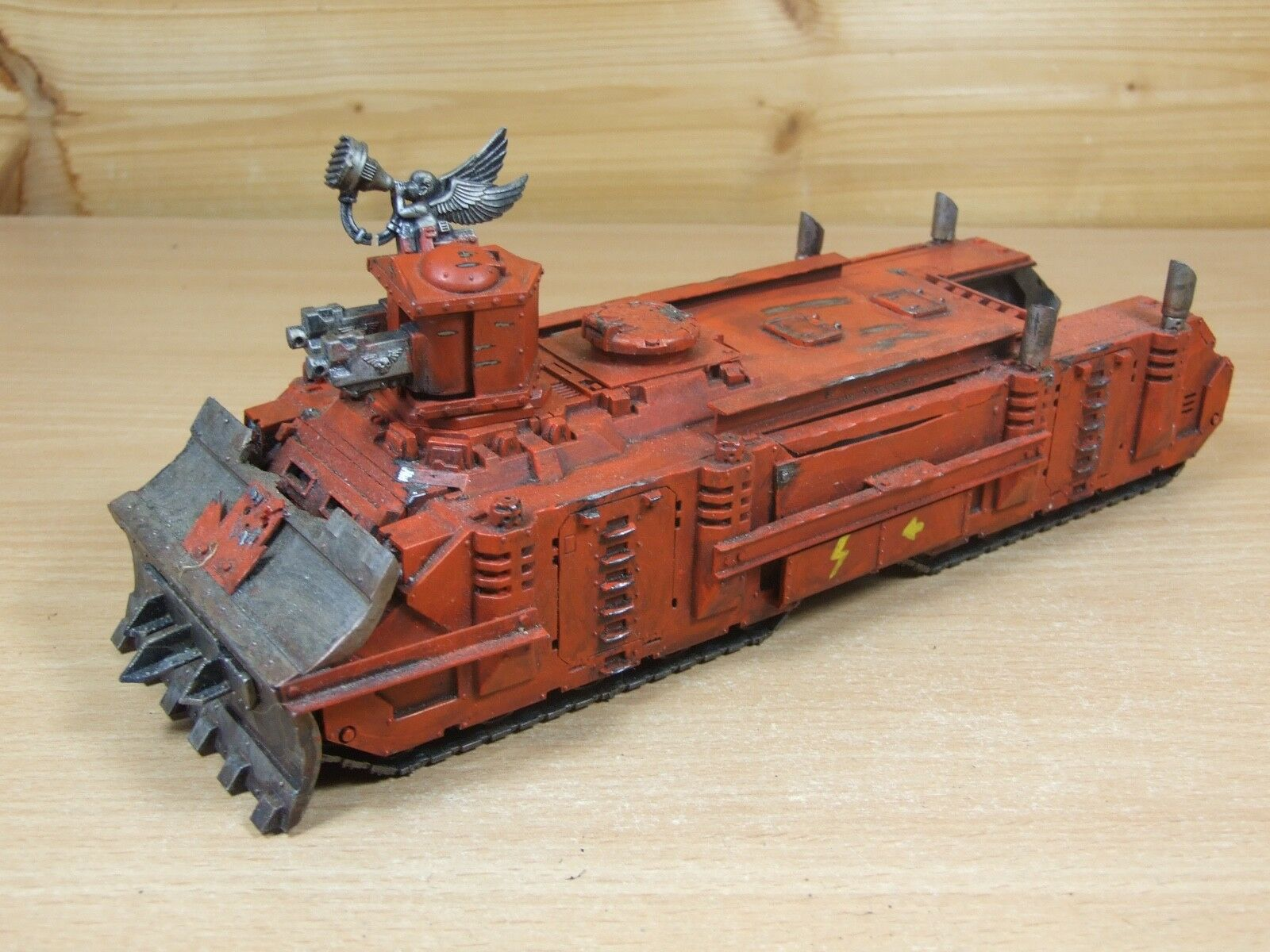 Converti custom made warhammer ork énorme trukk transport bien peint (L)