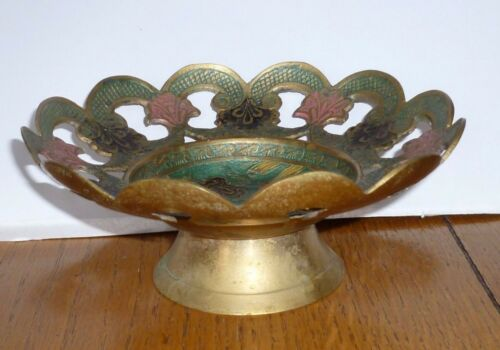 Brass & Enamal fretwork Candy Dish