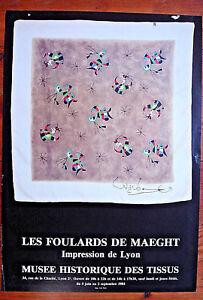 code promo meilleure sélection de 2019 premier taux Détails sur MIRO Affiche LES FOULARDS DE Maeght -IMPRESSION DE LYON-1984