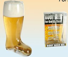 LARGE GLASS BEER BOOT 22.5CM TALL DRINKING GAMES HOLDS 800 ML LIQUID