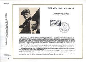 FEUILLET-PHILATELIQUE-SUR-LES-PIONNIERS-DE-L-039-AVIATION-LES-FRERES-CAUDRON
