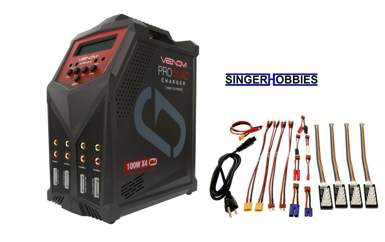 Venom Pro Quad 100W 7A 4-Puerto AC DC cargador de batería VNR0686 HH