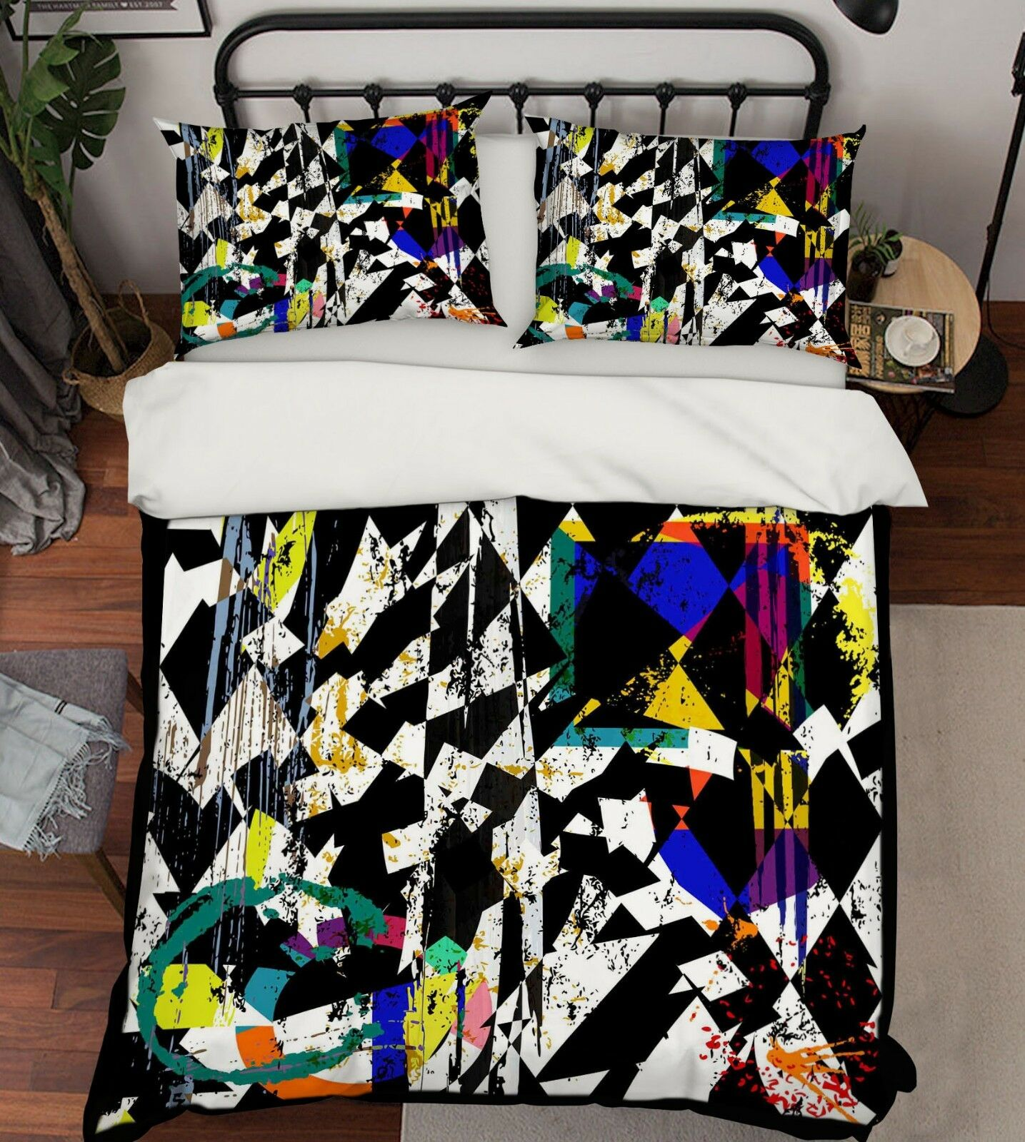 3d tacheté 317 lit housses de coussin steppes couette couvertures Set Single Reine de