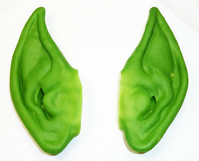 Green Pixie Ears Goblin Spock Fancy Dress Accessory
