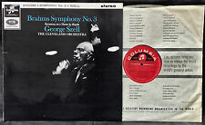 SAX 2572 1st Ed STEREO BRAHMS SYMPHONY 3 CLEVELAND ORCH SZELL NM+/EX+ RARE