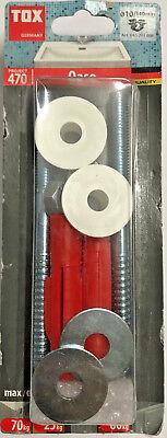 2 Stück Schrauben Dübel Project 470 Tox Oase Waschtischbefestigung  M10x140