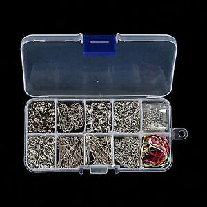 Handmade Accessories Jewelry Making Tools Kits Head Pins Chain Beads Plier Box