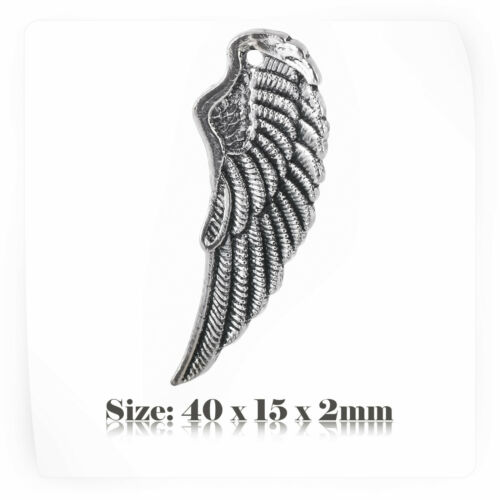 10 Tibetan Silver Antique Vintage Style Wings Charms Pendant Steampunk 055s