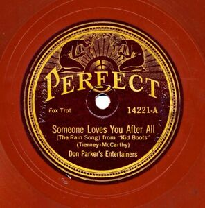 DON PARKER's ENTERTAINERS on 1924 Perfect 14221 - Someone Loves You After All