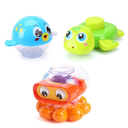 Huile Baby Bath Toys Set Kids Squirts Toy Water and Land Toys