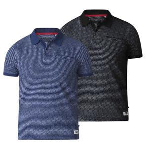 D555-Camisa-Polo-Para-Hombre-Duke-Kingsize-Grande-Jacquard-De-Manga-Corta-2XL-3XL-6XL-KS16166
