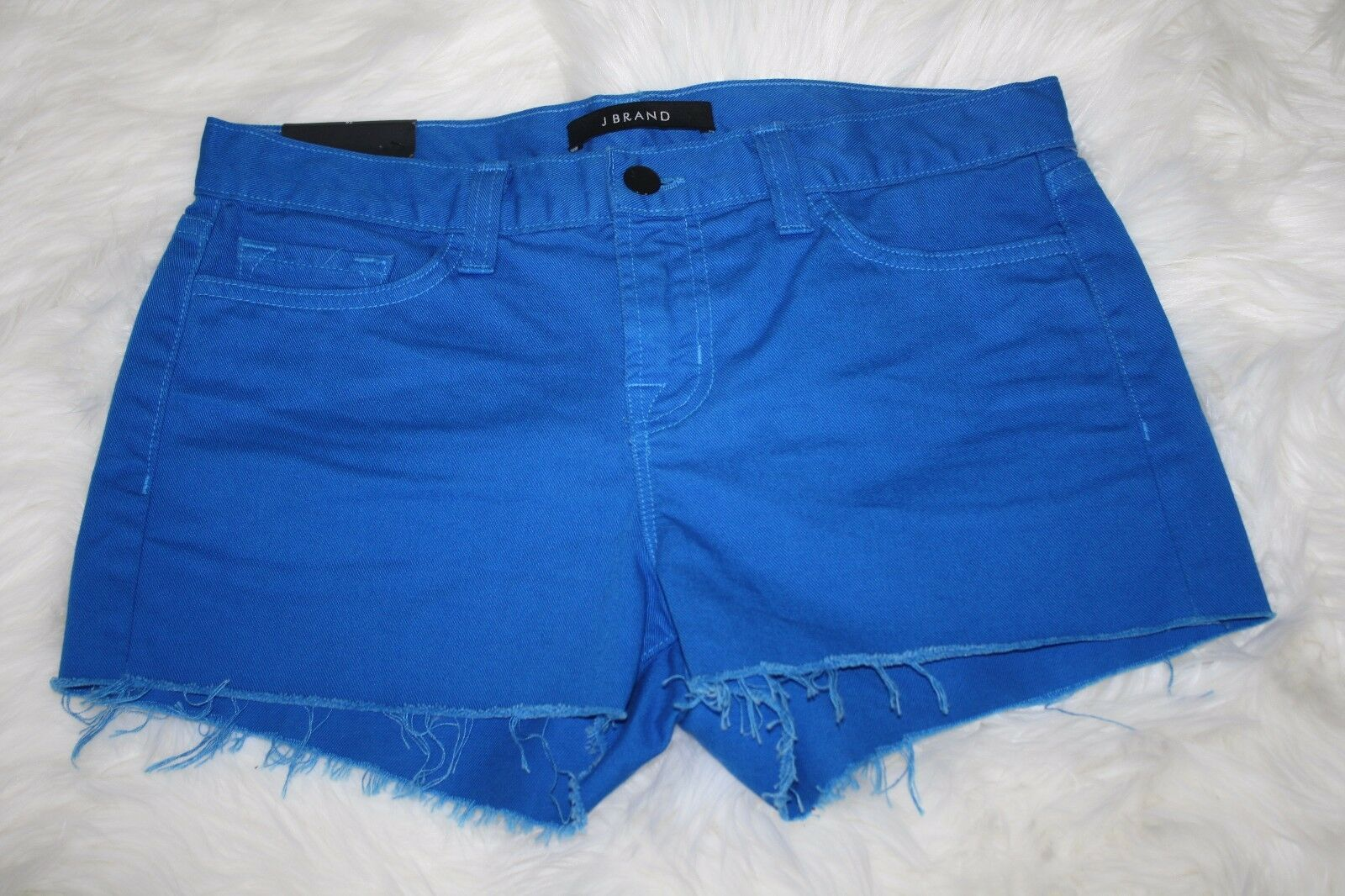 J Brand Womens Breakwater bluee Cotton Denim Jeans Low Rise Cut Off Shorts Sz 26