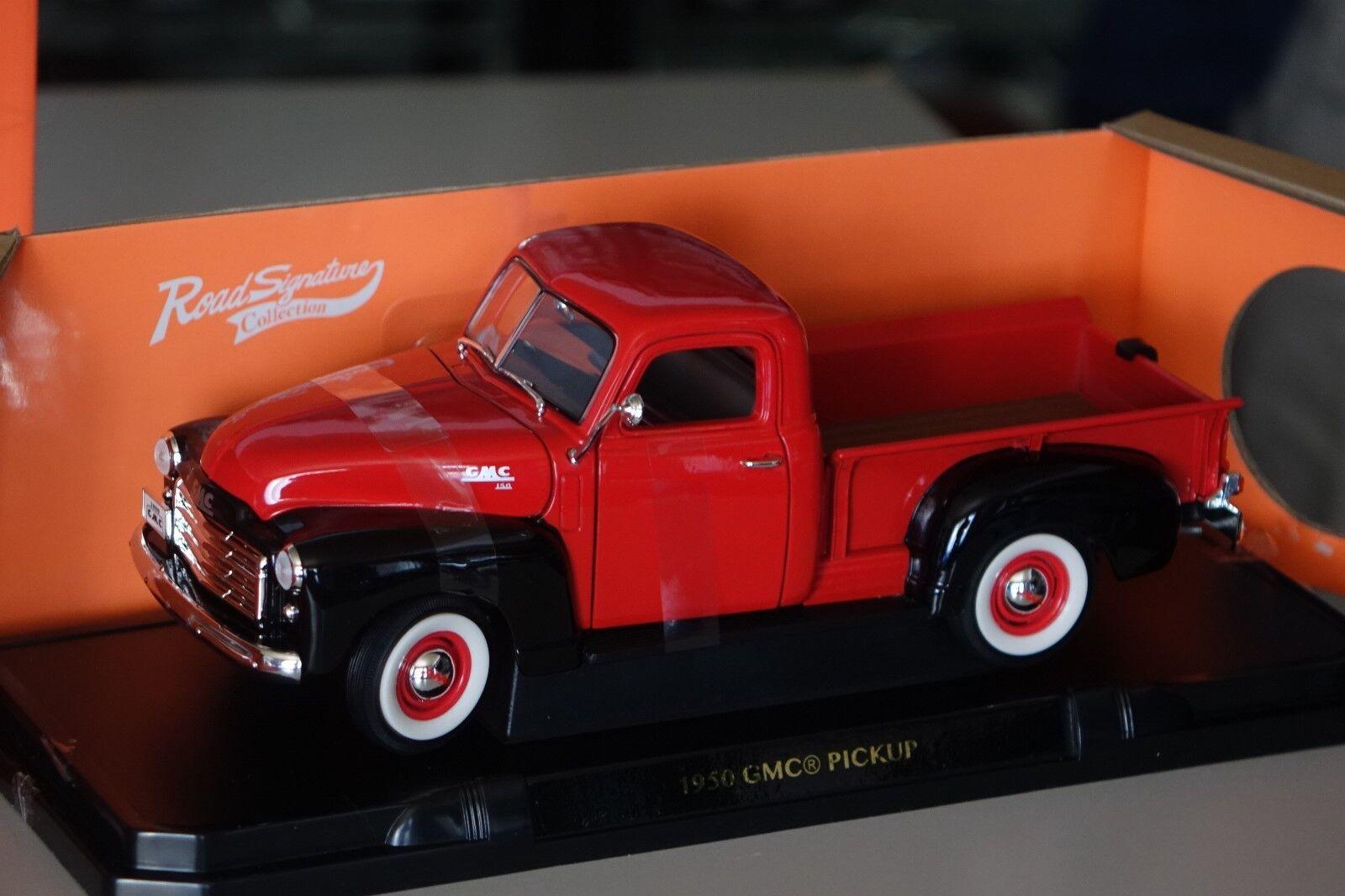 GMC Pickup 1950 ROSSONERO 1 18 Lucky DIE CAST 92648 NUOVO & OVP