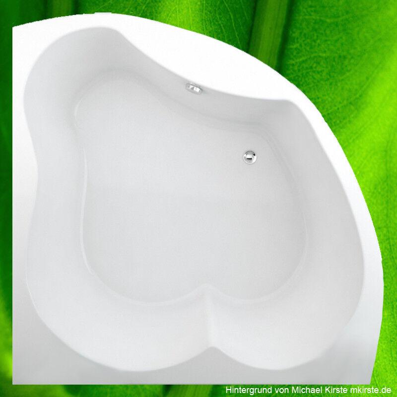Badewanne 150x150 cm + Füße + Ablauf + Befestigung Wanne 150 komplett extra tief