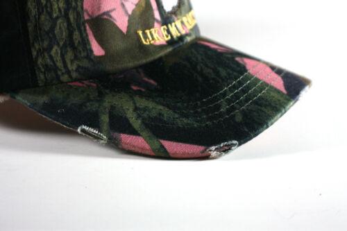 DEER CAMO HUNTING CAP DISTRESSED COTTON REDNECK HOTTIE WOMENS LIKE MY RACK