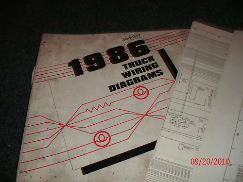 1986 Ford Econoline Wiring Electrical Diagrams Manual Schematics Sheets Set Ebay