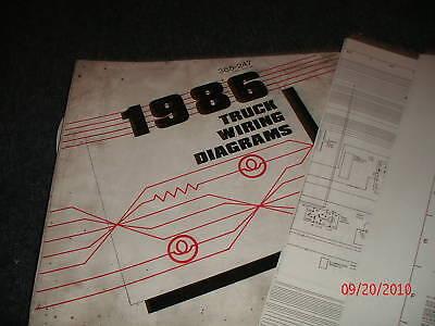 1986 FORD F600 - F800 F-600 F-800 CAB TRUCKS WIRING ...