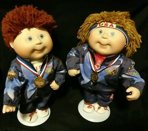 1996 Cabbage Patch Kids Olympic Porcelain Dolls Cpk By Danbury Mint With Stand Ebay