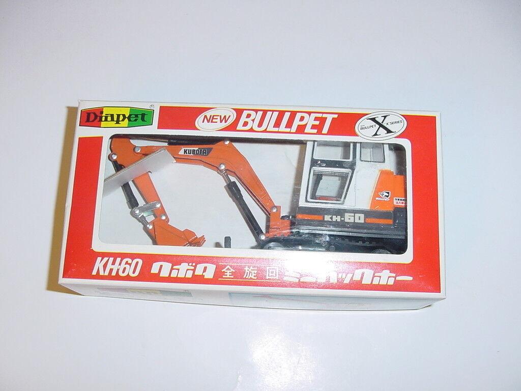 1 30 DIAPET Kubota KH-60 Excavator by Yonezawa Toys W Box