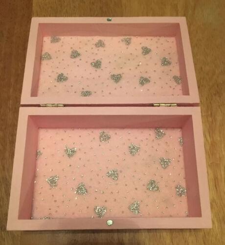 Handmade Disney Frozen 2 Pink Glitter Girls Vanity Trinket Nik-nak Box Lined