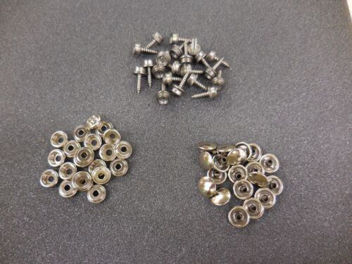 20 PC STAINLESS SNAPS AND SNAP SCREWS FOR CANVAS TOOL
