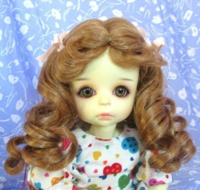 Monique ERICKA LT. Ginger Full Cap Doll Wig Size 8-9 Mid-Length Curly