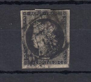 FRANCIA-1850-20c-CERES-HUNGARIAN-buoni-margini-SG9-USATO-J4453