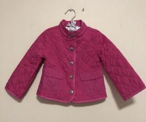 16cbf1761 Polo Ralph Lauren Girls Toddler Pink Quilted Light Weight Thin Coat ...