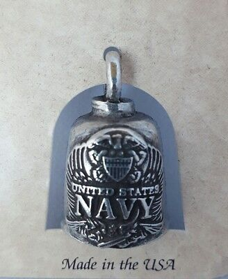 US Marine Military Motorcycle Guardian Angel Good Luck Gremlin Bell  Made in USA