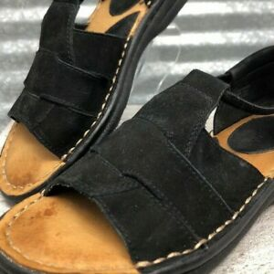 Minnetonka-Women-Size-7-Cushion-Woven-Suede-Leather-Flat-Elastic-Fastener