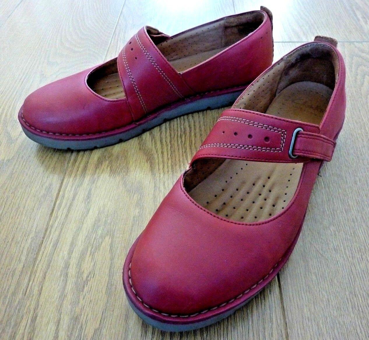 Clarks Unstructurojo Damas Mary Jane Planos Cuero Zapatos Talla Talla Talla EU 41M 7D Reino Unido  grandes ofertas