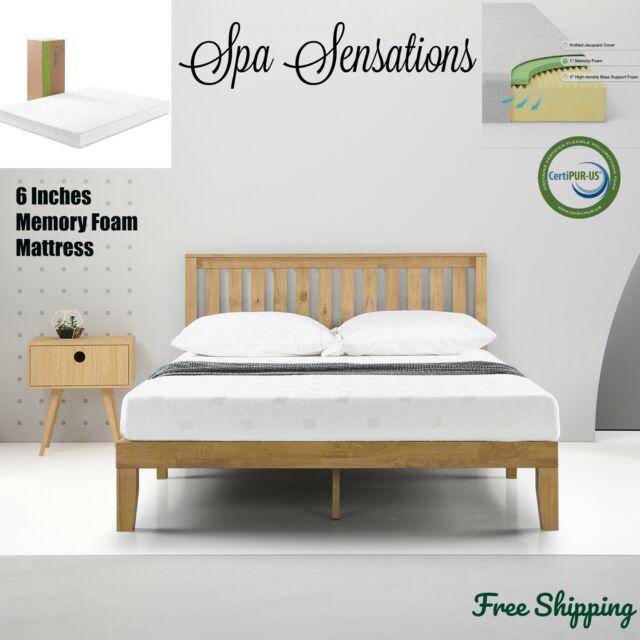 Spa Sensations W Pfm 600t 6in Queen Size Memory Foam Mattress