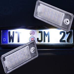 Set-LED-SMD-Kennzeichenbeleuchtung-fuer-Audi-A3-8P-A4-B6-B7-A5-A6-4F-Q7-7301