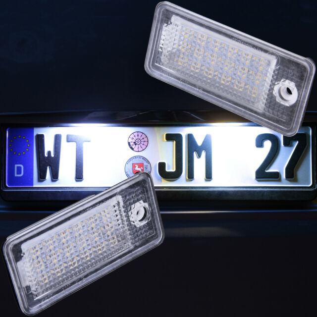 Set LED SMD Kennzeichenbeleuchtung für Audi A3 8P, A4 B6 B7, A5, A6 4F, Q7 |7301