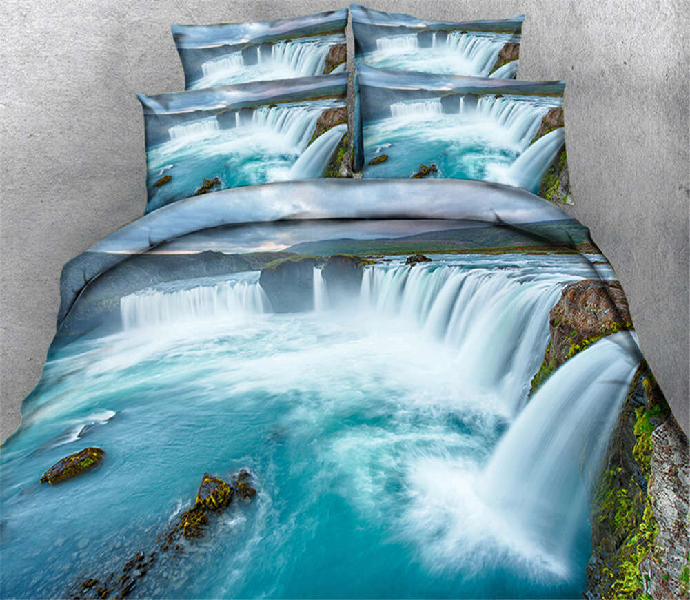 Turbulent Sea 3D Printing Duvet Quilt Doona Covers Pillow Case Bedding Sets