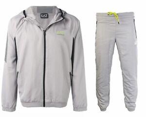 d85731751ca27 Emporio Armani 3GPV01 PNP5Z Hooded EA7 Men's Tracksuit Grey   eBay