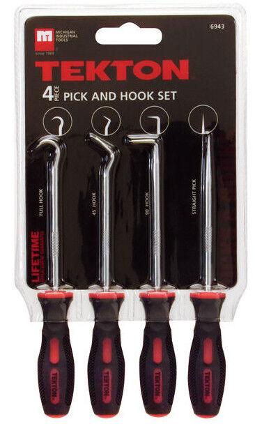 4-Piece TEKTON 6943 Precision Pick and Hook Set