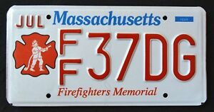 MASSACHUSETTS-034-FIREFIGHTER-FIRE-FIGHTER-034-MA-Specialty-License-Plate