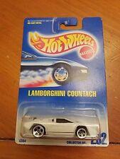 Hot Wheels #232 White Lamborghini Countach w/ 5 Dots Tinted Window - Import Car