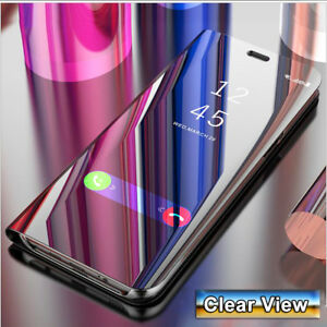 brand new 16e89 68b99 360° Flip Smart Case for Samsung Galaxy J6 A6 2018 Clear View Mirror ...