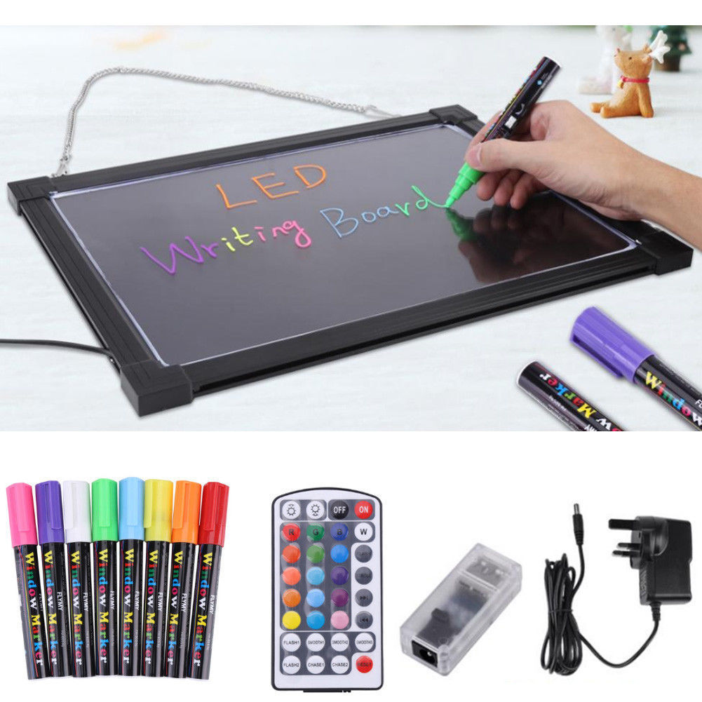 LED Writing Drawing Board with Remote Control Light Up Sensory Board Fluorescent