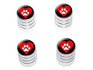Paw-Print-Heart-Dog-Cat-Love-Tire-Rim-Valve-Stem-Caps-Aluminum