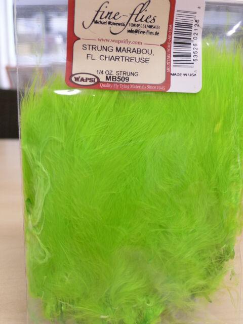 Marabou strunggenäht Wapsi USA 7 Gr. FLUO CHARTREUSE