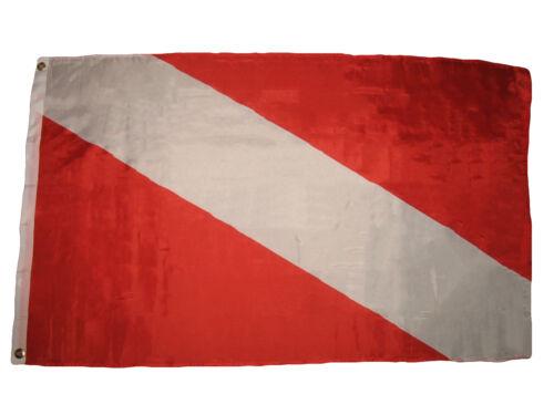 3x5 Diver Down Premium Flag 3/'x5/' House Boat Banner Grommets Super Polyester